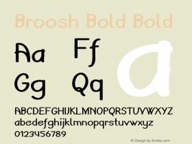 Broosh Bold Bold Version 1.000图片样张