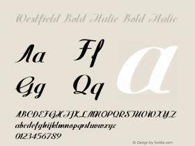 Westfield Bold Italic Bold Italic Version 1.000图片样张