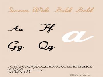 Swoon Wide Bold Bold Version 1.000图片样张