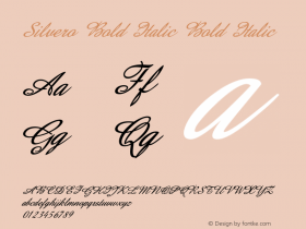 Silvero Bold Italic Bold Italic Version 1.000图片样张