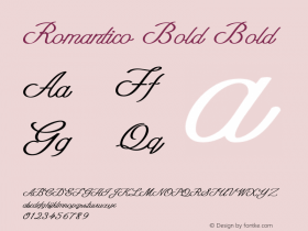 Romantico Bold Bold Version 1.000图片样张