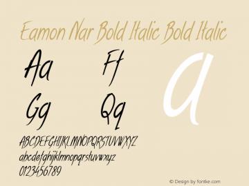 Eamon Nar Bold Italic Bold Italic Version 1.500图片样张