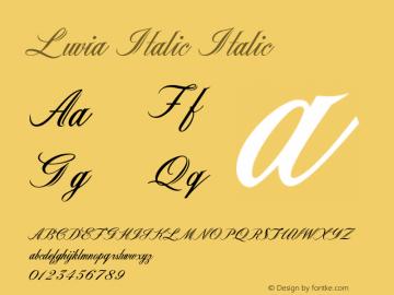 Luvia Italic Italic Version 1.000图片样张