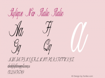 Stylique Nar Italic Italic Version 1.000图片样张