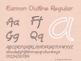 Eamon Outline Regular Version 1.000图片样张