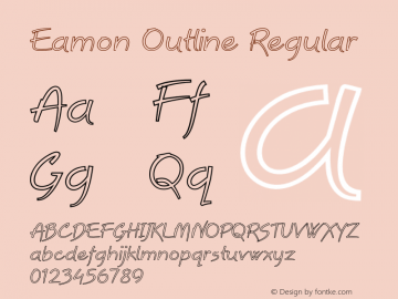 Eamon Outline Regular Version 1.000图片样张
