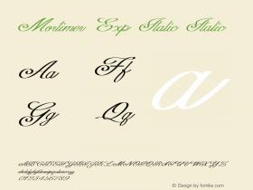 Mortimer Exp Italic Italic Version 1.000图片样张