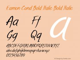 Eamon Cond Bold Italic Bold Italic Version 1.500图片样张