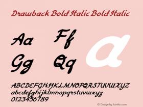 Drawback Bold Italic Bold Italic Version 1.000图片样张