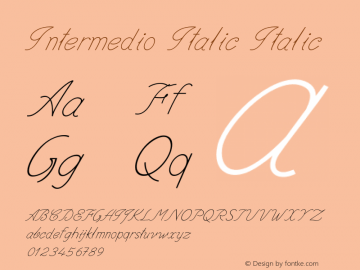 Intermedio Italic Italic Version 1.000图片样张