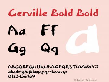Cerville Bold Bold Version 1.000图片样张