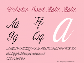 Voladro Cond Italic Italic Version 1.000图片样张