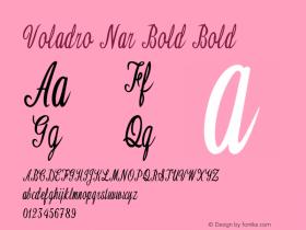 Voladro Nar Bold Bold Version 1.000图片样张