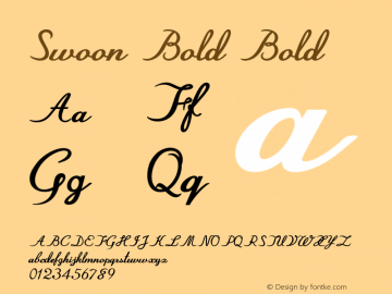 Swoon Bold Bold Version 1.000图片样张