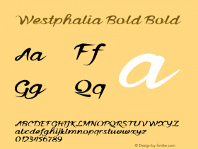 Westphalia Bold Bold Version 1.000图片样张