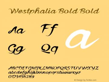 Westphalia Bold Bold Version 1.000图片样张