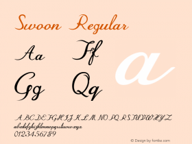 Swoon Regular Version 1.000图片样张