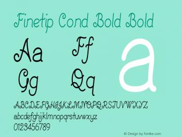 Finetip Cond Bold Bold Version 1.000图片样张