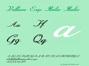 Vellum Exp Italic Italic Version 1.000图片样张