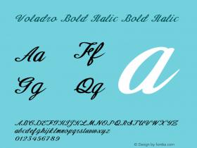 Voladro Bold Italic Bold Italic Version 1.000图片样张