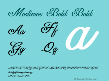 Mortimer Bold Bold Version 1.000图片样张