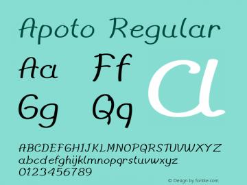 Apoto Regular Version 1.000图片样张