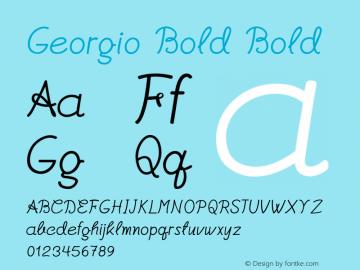 Georgio Bold Bold Version 1.000图片样张