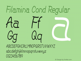Filamina Cond Regular Version 1.000图片样张