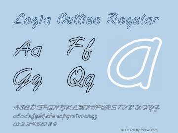 Logia Outline Regular Version 1.000图片样张
