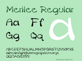 Merilee Regular Version 1.500图片样张