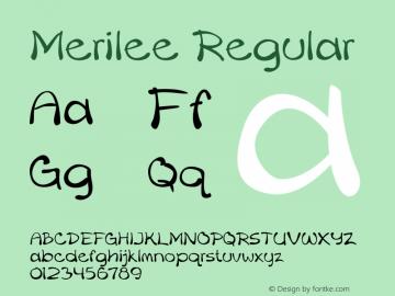 Merilee Regular Version 1.500 Font Sample