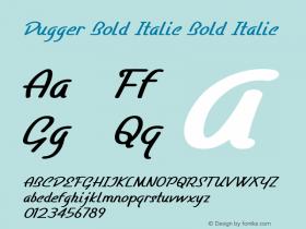 Dugger Bold Italic Bold Italic Version 1.000图片样张