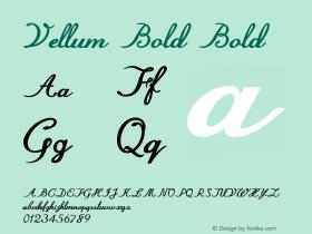 Vellum Bold Bold Version 1.000图片样张