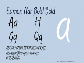 Eamon Nar Bold Bold Version 1.500图片样张