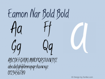 Eamon Nar Bold Bold Version 1.500图片样张