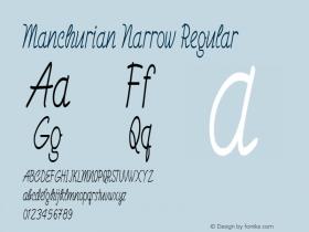 Manchurian Narrow Regular Version 1.000图片样张