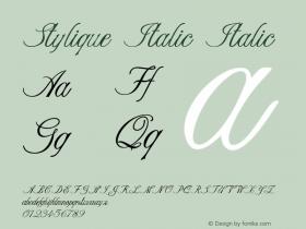 Stylique Italic Italic Version 1.000图片样张