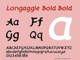 Longaggle Bold Bold Version 1.000图片样张