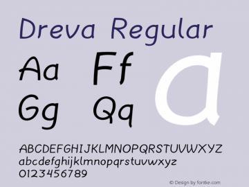 Dreva Regular Version 1.000图片样张
