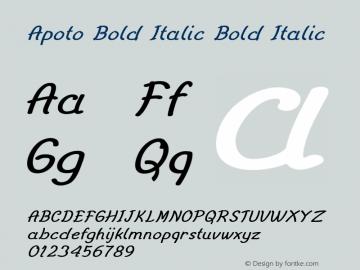 Apoto Bold Italic Bold Italic Version 1.000图片样张