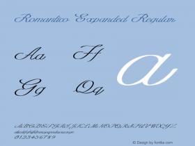 Romantico Expanded Regular Version 1.000图片样张