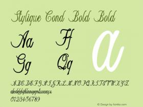 Stylique Cond Bold Bold Version 1.000图片样张