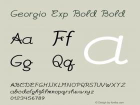 Georgio Exp Bold Bold Version 1.000图片样张