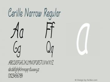 Cerille Narrow Regular Version 1.000图片样张