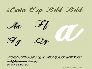Luvia Exp Bold Bold Version 1.000图片样张