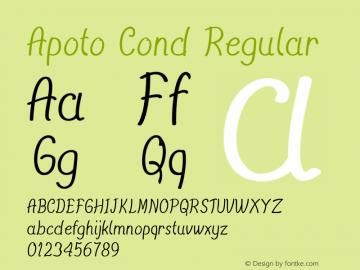 Apoto Cond Regular Version 1.000图片样张