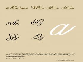 Mortimer Wide Italic Italic Version 1.000图片样张