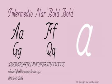 Intermedio Nar Bold Bold Version 1.000图片样张