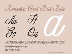 Romantico Cond Bold Bold Version 1.000图片样张