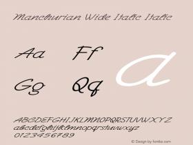 Manchurian Wide Italic Italic Version 1.000图片样张